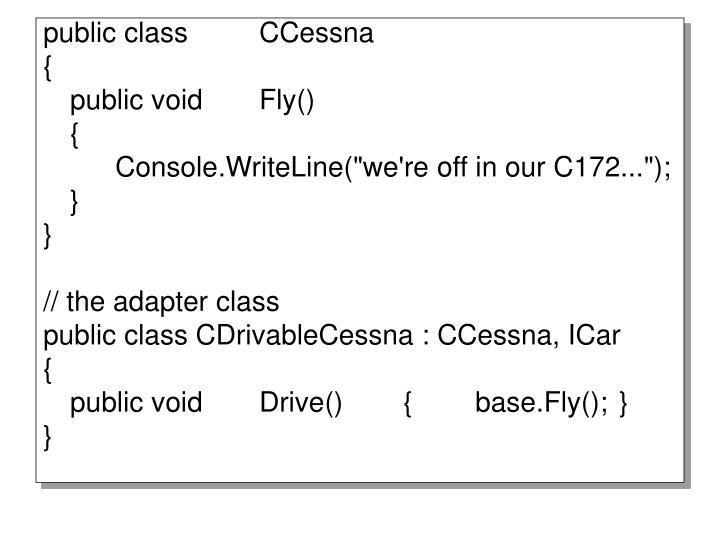 public classCCessna