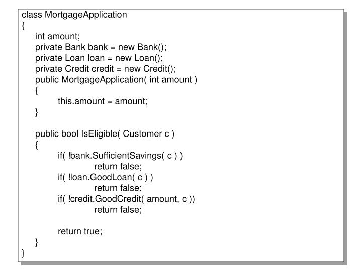 class MortgageApplication