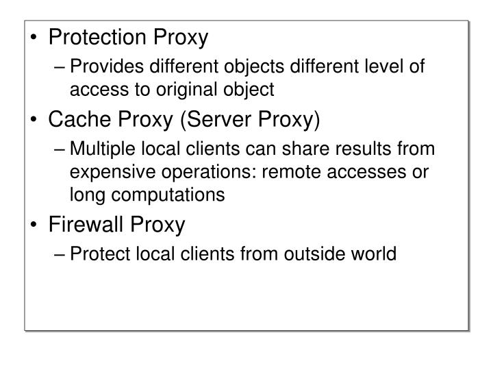 Protection Proxy