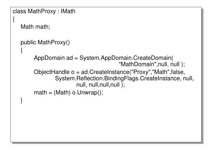 class MathProxy : IMath