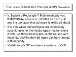 the liskov substitution principle lcp discussion
