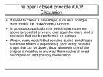 the open closed principle ocp discussion