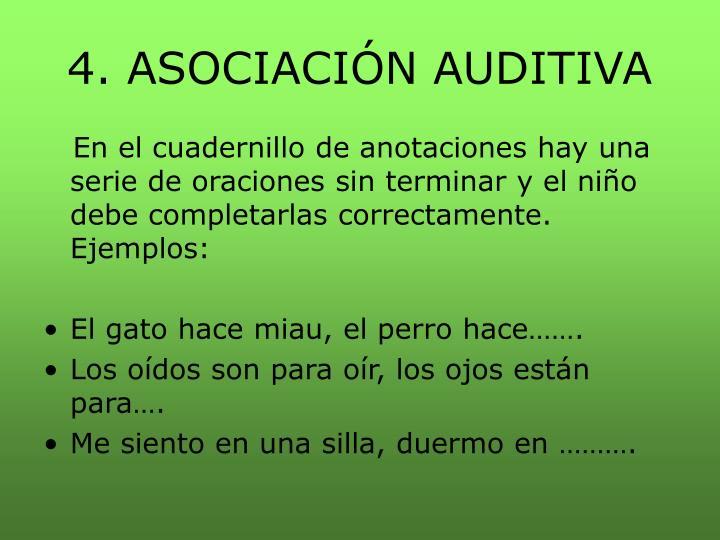 4. ASOCIACIÓN AUDITIVA