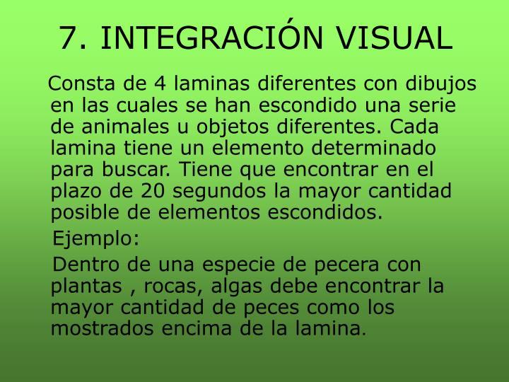 7. INTEGRACIÓN VISUAL
