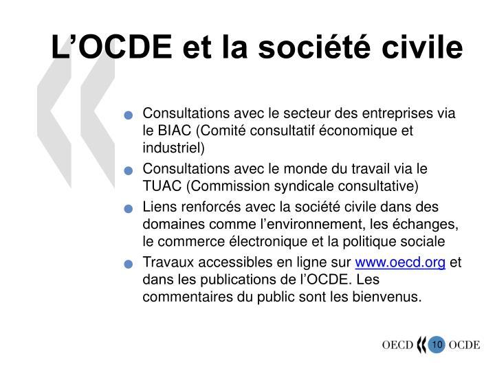 L'OCDE et la société civile