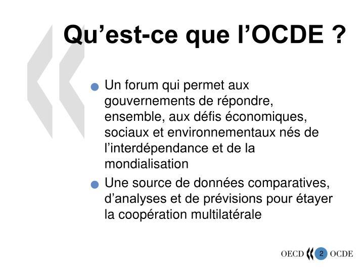 Qu'est-ce que l'OCDE ?