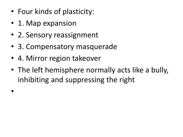 Four kinds of plasticity: