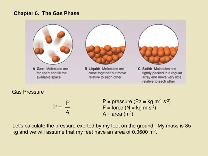 Chapter 6.  The Gas Phase