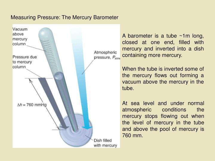Measuring Pressure: The Mercury Barometer