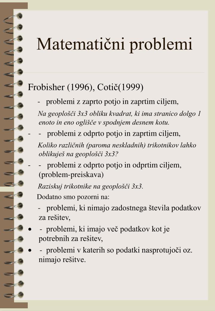 Matematični problemi