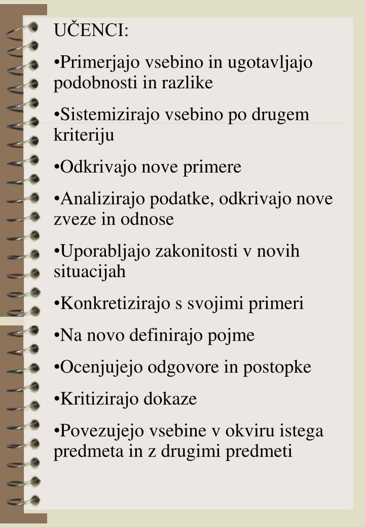 UČENCI: