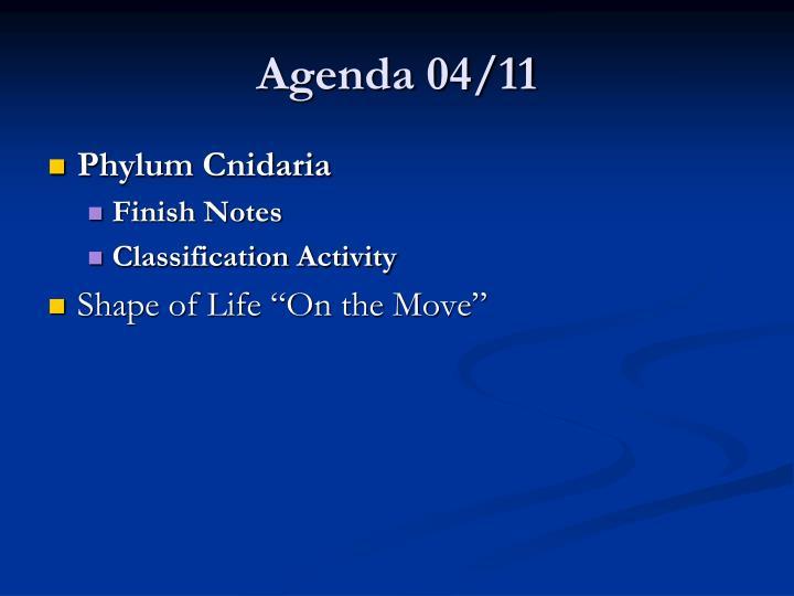 Agenda 04/11