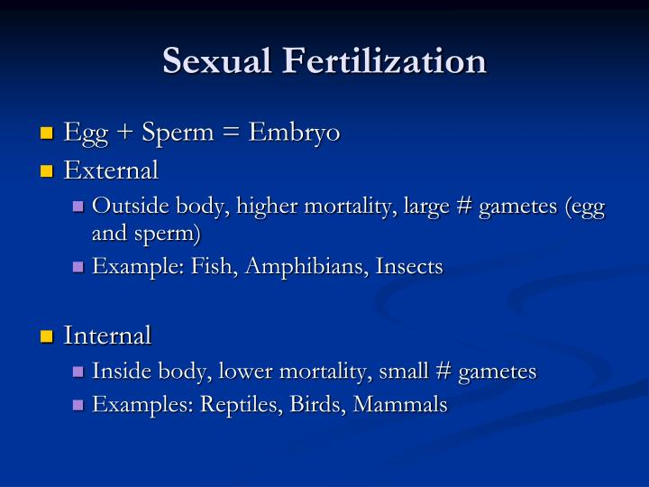 Sexual Fertilization