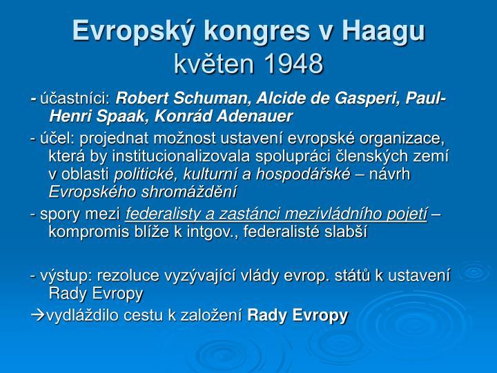Evropský kongres vHaagu