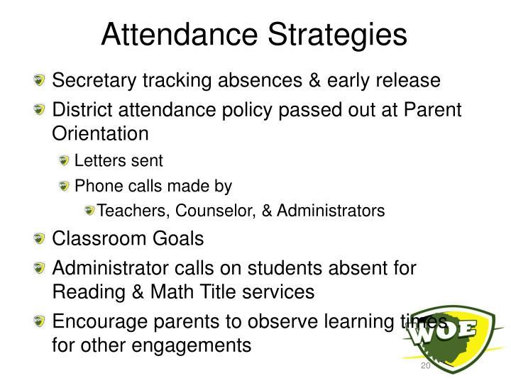 Attendance Strategies