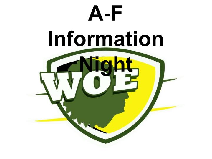 A-F Information Night