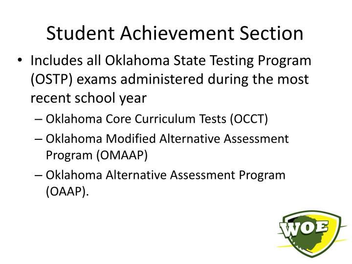 Student Achievement Section