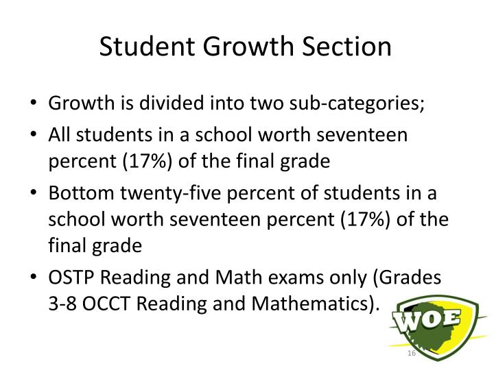 Student Growth Section
