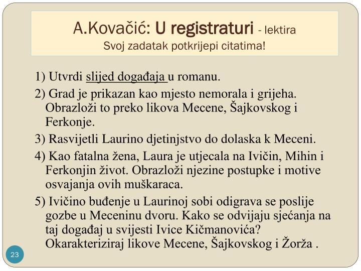 A.Kovačić: