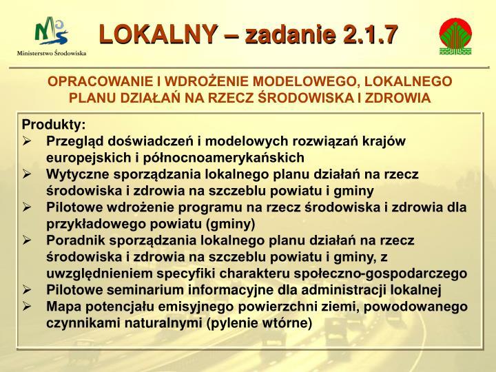 LOKALNY – zadanie 2.1.7