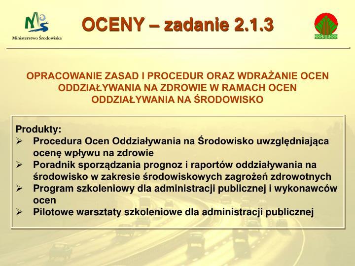 OCENY – zadanie 2.1.3
