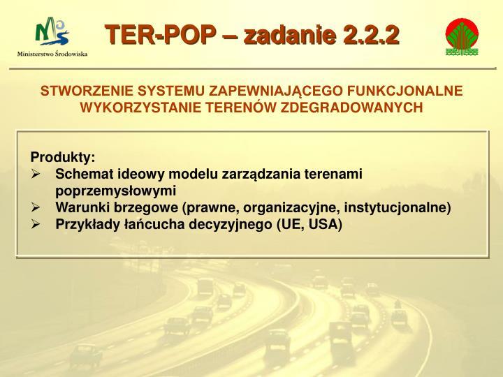 TER-POP – zadanie 2.2.2