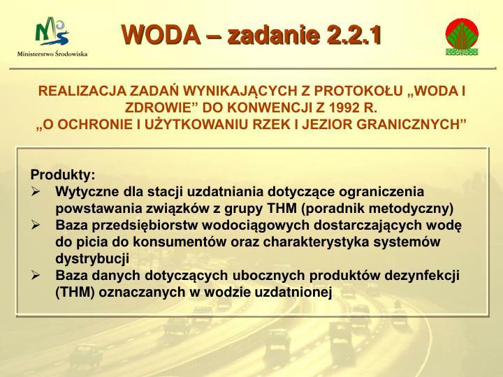 WODA – zadanie 2.2.1