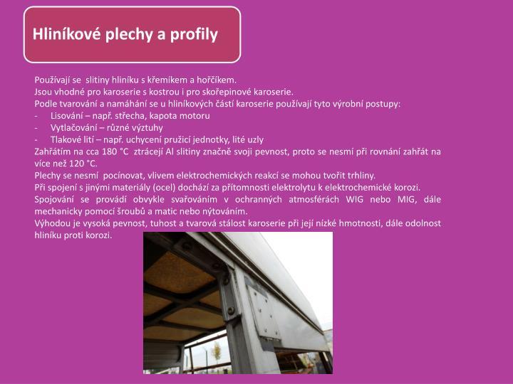 Hliníkové plechy a profily