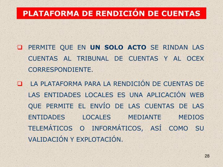PLATAFORMA DE RENDICIÓN DE CUENTAS
