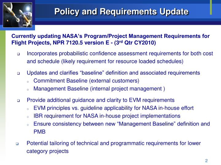 Policy and Requirements Update