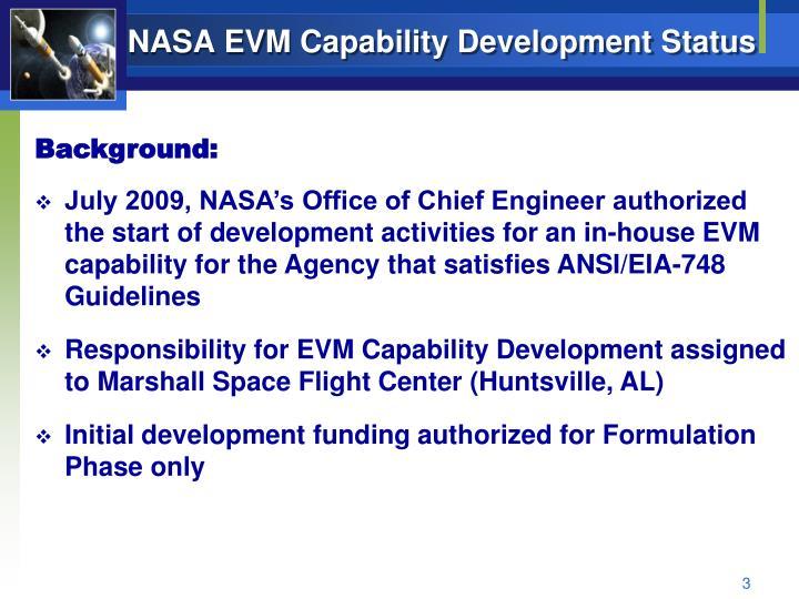 NASA EVM Capability Development Status