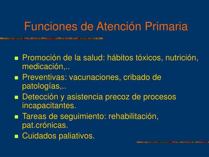 Funciones de Atención Primaria