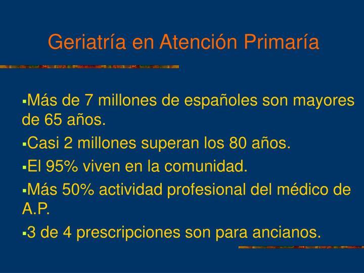 Más de 7 millones de españoles son mayores de 65 años.