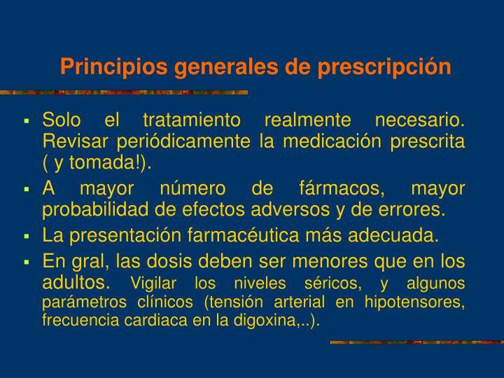 Principios generales de prescripción