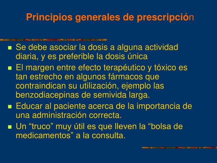 Principios generales de prescripció