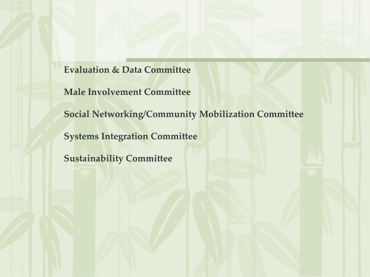 Evaluation & Data Committee
