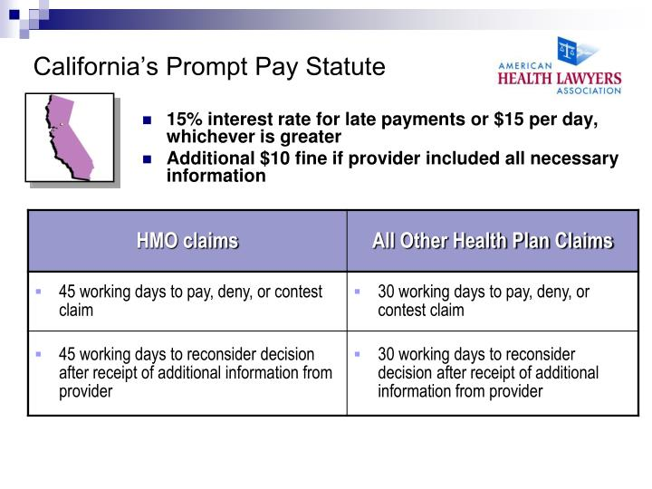 California's Prompt Pay Statute