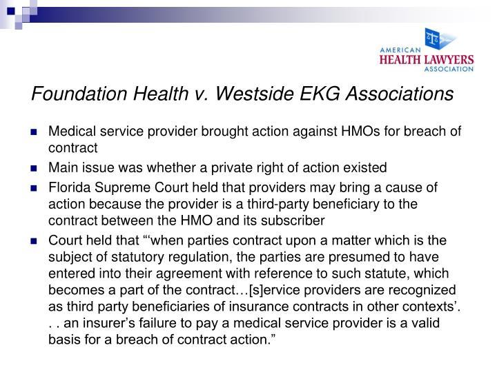 Foundation Health v. Westside EKG Associations