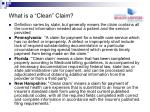what is a clean claim