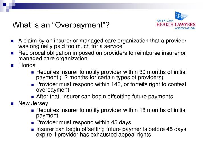 "What is an ""Overpayment""?"