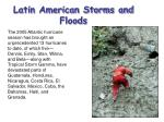 latin american storms and floods