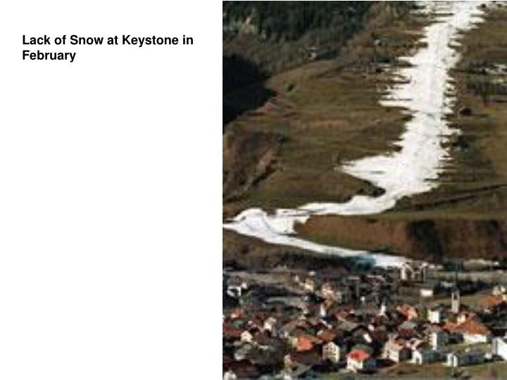 Lack of Snow at Keystone in February