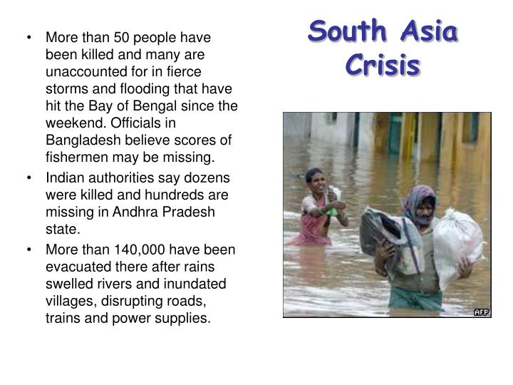 South Asia Crisis