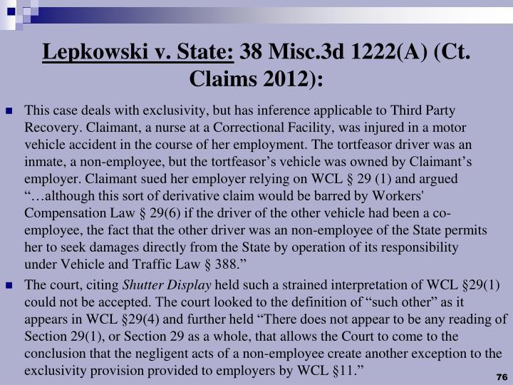 Lepkowski v. State:
