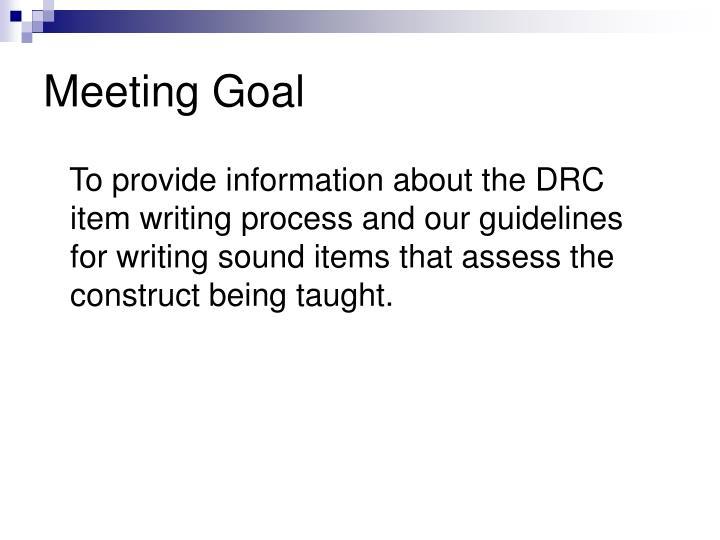 Meeting Goal