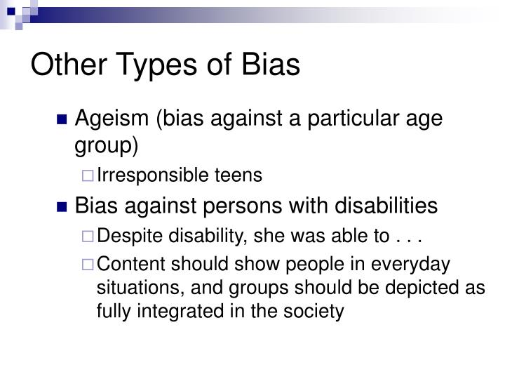 Other Types of Bias
