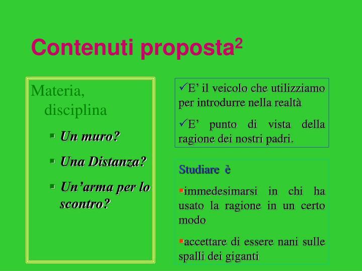 Contenuti proposta