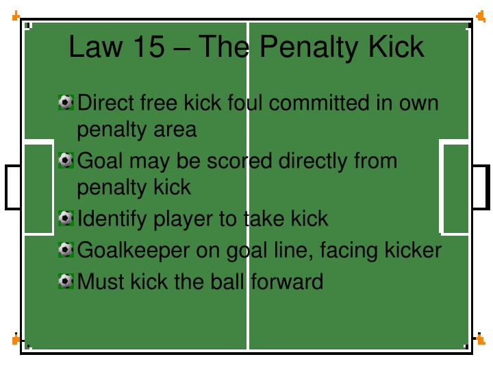 Law 15 – The Penalty Kick