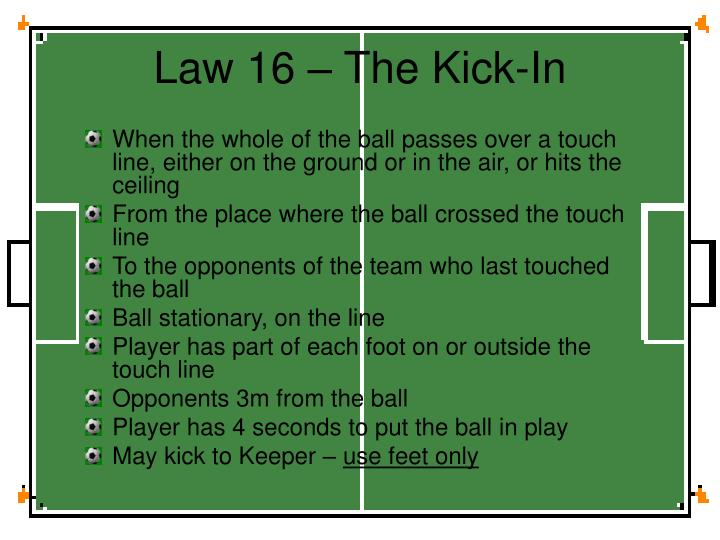 Law 16 – The Kick-In