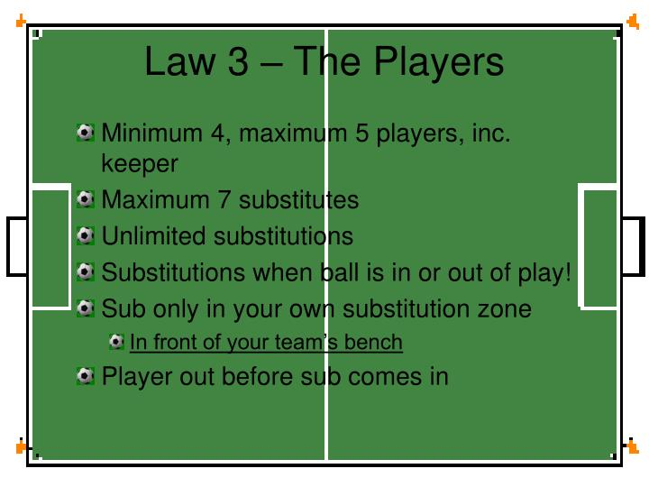 Law 3 – The Players
